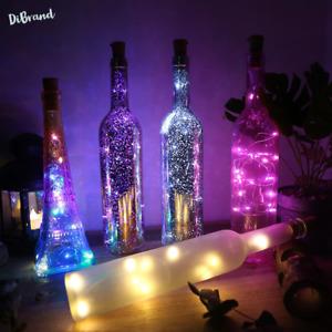 LEDs Wine Bottle Cork Lights LED String Garland Colorful Fairy Lights Xmas Decor