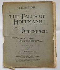 Tales of Hoffmann Offenbach vintage sheet music for piano First World War 1910s