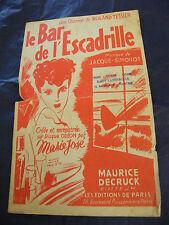 Partition Le bar de l'escadrille Marie José 1944 Music Sheet