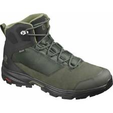 Salomon Outward GTX Mens Green Grey Black Waterproof Trail Hiking Boots 409579