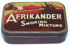 ANTIQUE AFRICANDER TOBACCO TIN PIONEER COVERED OX CART IMAGE 1900