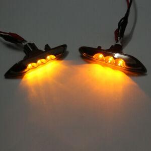 SMOKE For BMW E82 E88 E90 E92 LED Side Marker Light Signal Blinker Lamp Pair