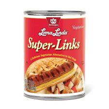 Loma Linda Super Links Canned Vegetarian Meat Substitute 19 oz Cans Pack of 12