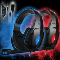 EACH G4000 PC Gaming Headset Stereo 3.5mm Headphones LED Light Headband wtih Mic