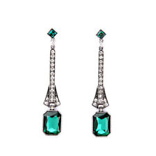 NEW * Urban Anthropolo​​gie Eva Evening Emerald Rhinestone Drop Earrings
