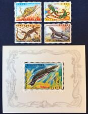 Belgium Series 1965 Antwerp Zoo - Amphibians & Turtle Mi1401-04 & MiBL 33 MNH