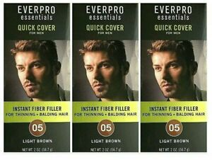 (Pack of 3) Everpro Quick Cover for Men w/ Thinning/Balding Hair Light Brown 05