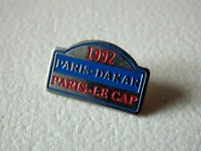 Pin's vintage Collector épinglette publicitaire 1992 paris Dakar Lot L107