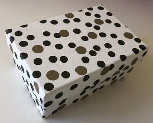 DECORATIVE COLORFUL GIFT/STORAGE BOX, Recycled paper - SM Polka Dot/Blk & White