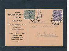 Geschäfts-Postkarte 1916 aus Pisek nach Merklin  17/2/15