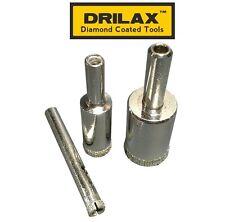 3 Pcs Diamond Drill Bit Set 1/4 1/2 3/4 inch Holesaw Set Lot Glass Granite Tiles