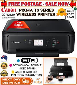 Canon PIXMA Wireless Inkjet Printer Scanner Copier Auto Duplex BT + Ink Work New