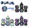 7Pcs Metal Polyhedral Dice DND RPG MTG Role Playing and Tabletop Colors JcILs