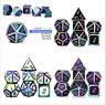 7Pcs Metall Polyhedral Würfel Dnd RPG MTG Rollenspiel und Tisch eNwrg Qi9le