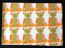 Pacific Vintage Twin Flat Bed Sheet Scuda Teddy Bear Bob Van Allen Retro Kids