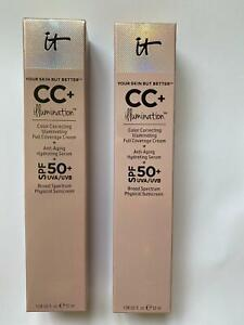 New boxed IT cosmetics CC Cream + Serum 50+ SPF Light /Medium 32ml foundation uk