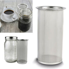 Stainless Steel Cold Brew Coffee Maker Iced Tea Infuser Filter Mason Jar 32oz