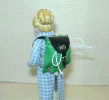 Miniature Green/Black Wearable Backpack (Cute, Doesn't Open): DOLLHOUSE 1:12