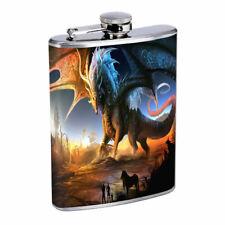 Massive Dragon Em1 Flask 8oz Stainless Steel Hip Drinking Whiskey