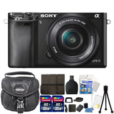 Sony Alpha a6000 Mirrorless Digital Camera + 16-50mm 24.3MP Accessory Bundle