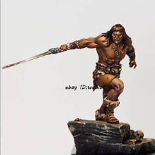 1/24 Scale Resin Kit Figure Model Unpainted Warrior Garage Kit With Pedestal New