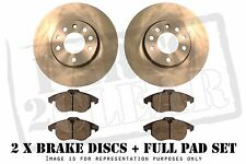 FORD FUSION 1.4 1.6 & TDCI FRONT BRAKE DISCS & PADS SET 258mm Vented PAIR KIT