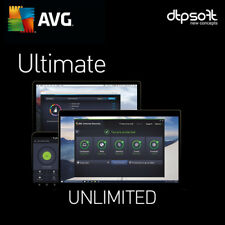 Avg Ultimate 2019 Unlimited Appareils/pc 2018 2 ans Antivirus Mac Android FR eu