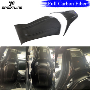 Full Carbon Fiber Seat Back Shell Covers Cap For Benz A35 A45 C43 C63 CLA45 AMG