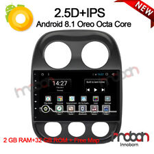 """10.1"""" Octa Core Android 8.1 Car Stereo Radio GPS Navigation For Jeep Compass BT"""