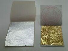3 Gold leaf + 3 Silver leaf 99.99% Pure 24K Food grade , Edible ☆☆☆