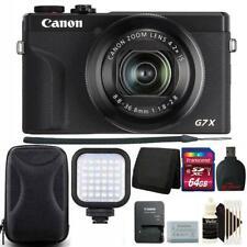 Canon PowerShot G7 X Mark III Digital Camera Black + 64GB Top Accessory Kit