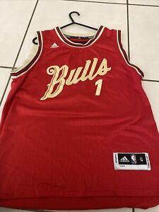 "Chicago Bulls Derrick Rose Jersey NBA Adidas  + 2"" Length"