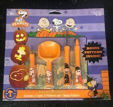 Peanuts Snoopy Halloween Pumpkin Carving Kit w/Instructions & 7 Patterns New