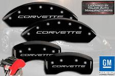 "1997-2004 Chevy ""Corvette"" Base C5 Front Rear Black MGP Brake Disc Caliper Cover"