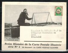 1947-LETTRE.DOCUMENT/ALGERIE VIA TUNISIE**AVIATION-BLERIOT-LINDBERGH/Y/T.PREO.18
