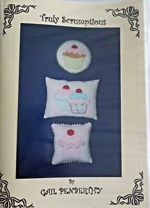 New  Truly Scrumptious 3 cushions pillows patchwork quilting sewing pattern