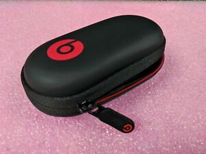 Genuine Beats by Dr. Dre Hard Case for PowerBeats Earbuds Red Black Case Only
