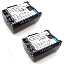 2x Battery for Canon FS10 FS11 FS20 FS21 FS22 FS30 FS31 FS40 FS100 FS200 FS300