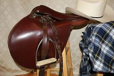"""COVENTRY """"MADE IN ENGLAND"""":  Reddish Brown English Saddle Size 16"""""""