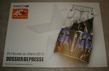 Le MANS 2013 FIA CME Oreca 40th ANNIVERSARIO media GUIDE ribellione R-One & TS030