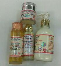 Golden Face Whitening Beauty set. Strong  Lotion +Face cream + Serum & oil  4pcs