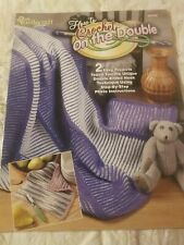 New listing How to Crochet on the Double Pattern Leaflet 2 Easy Projects~Afghan & Dishcloth