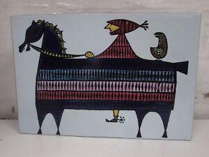 STIG LINDBERG CARNIVAL SERIES CERAMIC VASE 231-M KNIGHT ON HORSE STUDIO POTTERY