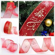 Creative DIY Christmas Party 200cm Xmas Tree Ornament Decor Fabric Silk Ribbon G