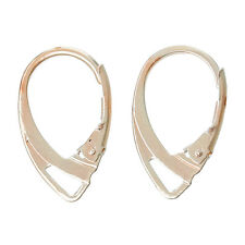 20 pcs (10 pairs) Rose Gold Plated Leverback Earrings Clips - 18x11mm