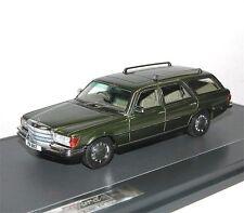 MATRIX Scale Models,1977 Mercedes-Benz W116 Crayford Estate, Kombi, grün, 1/43