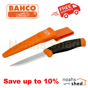BAHCO Mora Knife Stainless Steel Blade with Holster Multipurpose 2444