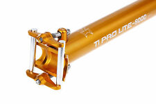 KCNC Ti Pro Lite Road MTB Bike Scandium Seatpost Post 34.9mm 400mm Gold