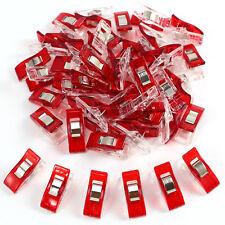 Pinza de Plástico para Costura manualidades ropa Color Rojo 50pcs