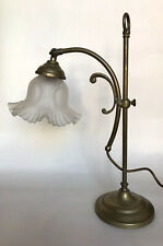 Edwardian Style Adjustable Brass Desk Lamp (Student Lamp)
